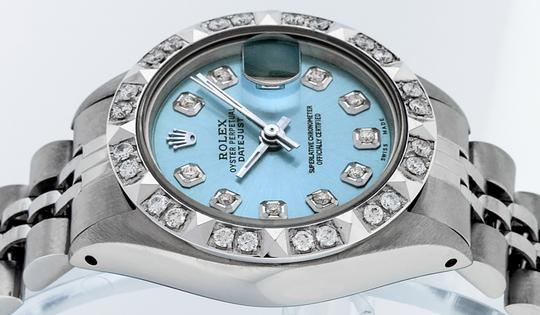Rolex Ladies Datejust Stainless Steel with Diamond Dial Watch Image 7