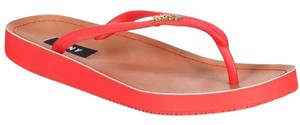 DKNY red Sandals