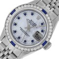 Rolex Ladies Datejust Stainless Steel with Sapphire Dial Watch Image 0
