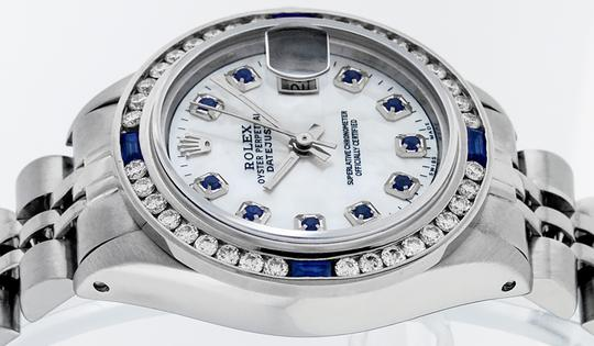 Rolex Ladies Datejust Stainless Steel with Sapphire Dial Watch Image 5
