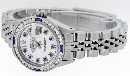 Rolex Ladies Datejust Stainless Steel with Sapphire Dial Watch Image 6