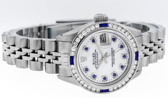 Rolex Ladies Datejust Stainless Steel with Sapphire Dial Watch Image 7