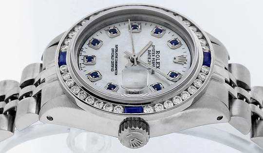 Rolex Ladies Datejust Stainless Steel with Sapphire Dial Watch Image 8