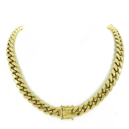 Preload https://img-static.tradesy.com/item/25814553/14k-gold-plated-12mm-cuban-miami-link-chain-necklace-0-1-540-540.jpg
