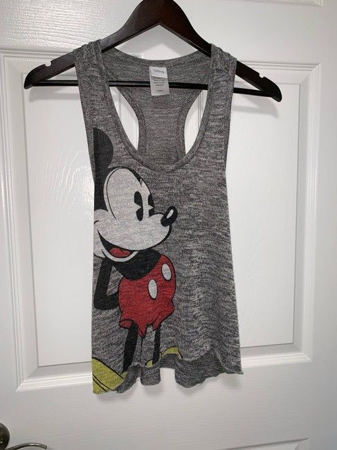 Disney Mickey Mouse Razor Back Lot Summer Top Grey Image 4