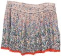 American Eagle Outfitters Floral Pleated Fall Autumn Boho Mini Skirt MultiColor