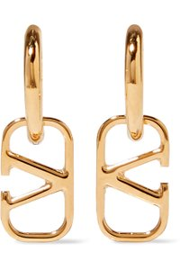 Valentino Gold-tone hoop earrings