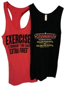Bella Graphic Tee Funny Lol Exercise Work Out Top black