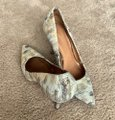 Coach Prom Casual Leather Golden White, Beige, Gold Pumps Image 1