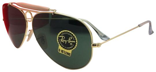 Preload https://img-static.tradesy.com/item/25814647/ray-ban-rb-3138-shooter-001-58-09-gold-w-aviator-wg15-green-sunglasses-0-1-540-540.jpg