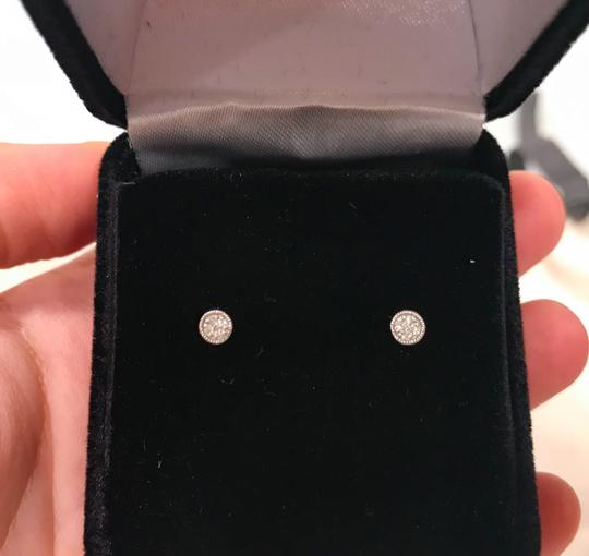 Carriere Carriere Sterling Silver Diamond Petite Circle Studs Earrings - 0.03 ctw Image 2