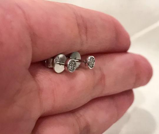 Carriere Carriere Sterling Silver Diamond Petite Circle Studs Earrings - 0.03 ctw Image 5