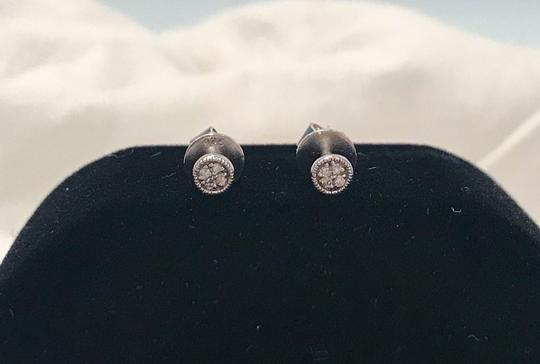Carriere Carriere Sterling Silver Diamond Petite Circle Studs Earrings - 0.03 ctw Image 8