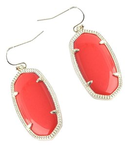 Kendra Scott NEW Kendra Scott Elle Gold Bright Red Statement Drop Earrings