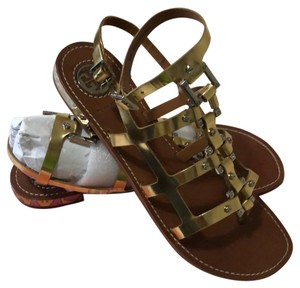 Tory Burch gold and silver Sandals