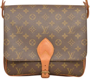 Louis Vuitton Monogram Shoulder Cartouchiere Mm Cross Body Bag