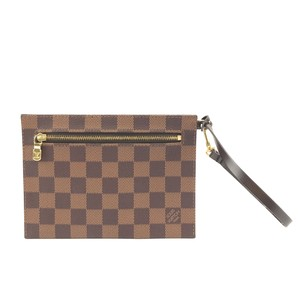 Louis Vuitton Pochette Zippy Flat Damier Ebene Clutch