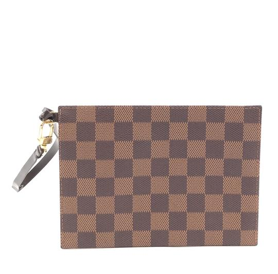 Louis Vuitton Pochette Zippy Flat Damier Ebene Clutch Image 1