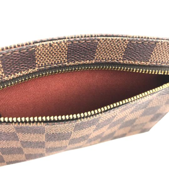 Louis Vuitton Pochette Zippy Flat Damier Ebene Clutch Image 11