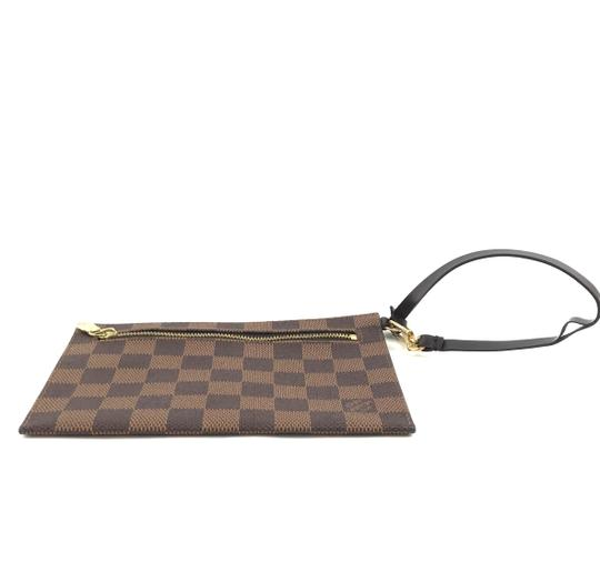Louis Vuitton Pochette Zippy Flat Damier Ebene Clutch Image 3