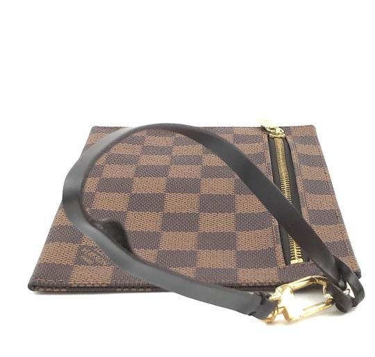 Louis Vuitton Pochette Zippy Flat Damier Ebene Clutch Image 5