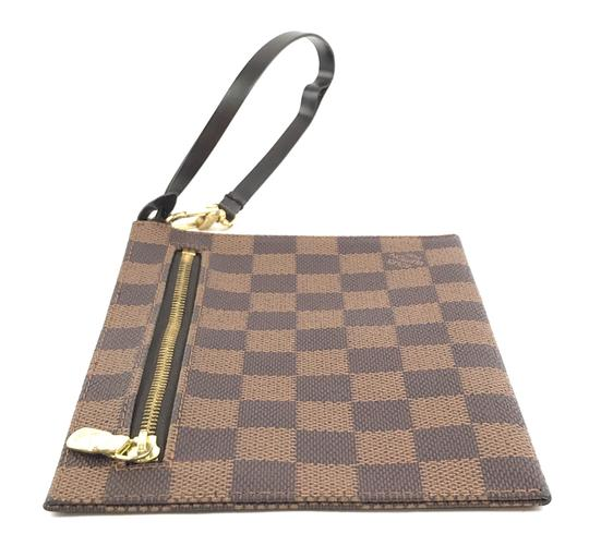 Louis Vuitton Pochette Zippy Flat Damier Ebene Clutch Image 6