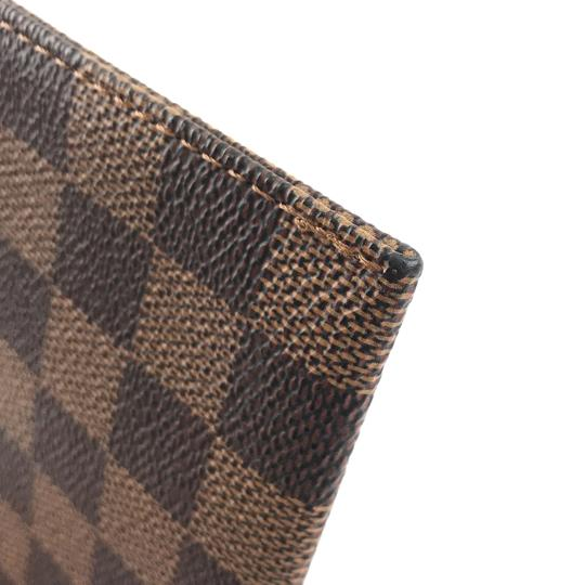 Louis Vuitton Pochette Zippy Flat Damier Ebene Clutch Image 9