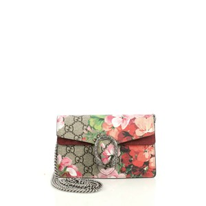 Gucci Dionysus Blooms Print Gg Coated Canvas Cross Body Bag