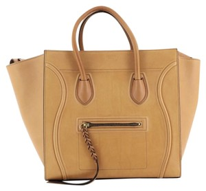 Céline Phantom Leather Satchel in brown