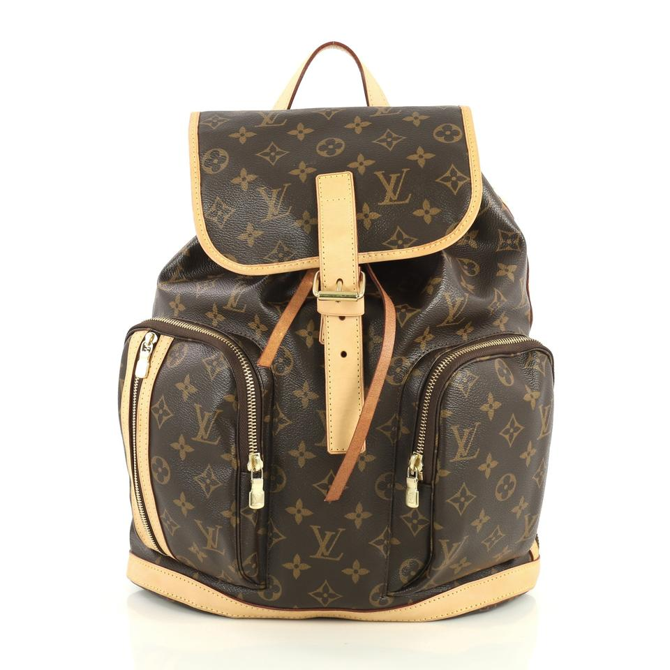 719e3943fae Louis Vuitton Bosphore Brown Monogram Canvas Backpack 7% off retail