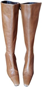 Adrienne Vittadini Leather Fall Brown Boots