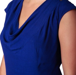 Loveappella Cowl Neck Top Cobalt Blue