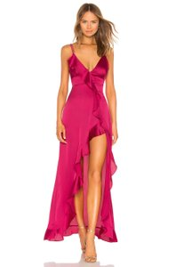 For Love & Lemons Gown Ruffle Spring Slit Flowy Dress