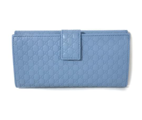 Gucci NEW GUCCI 449393 Leather Microguccissima Continental Wallet, Blue Image 3