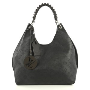 Louis Vuitton Carmel Mahina Leather Hobo Bag