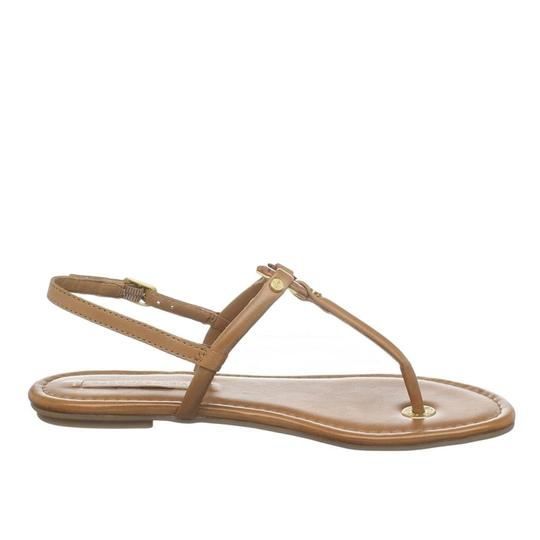 BCBGMaxAzria Flats Leather Luggage Tan, Beige Sandals Image 2