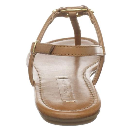 BCBGMaxAzria Flats Leather Luggage Tan, Beige Sandals Image 4