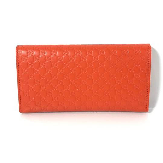 Gucci NEW GUCCI 449396 Leather Microguccissima Continental Wallet, Orange Image 1