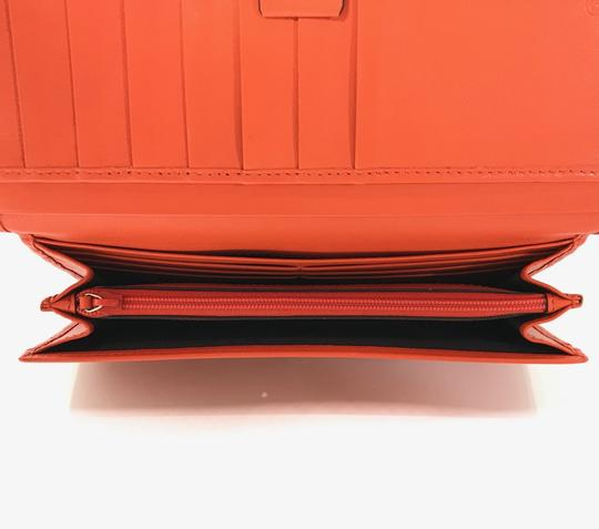 Gucci NEW GUCCI 449396 Leather Microguccissima Continental Wallet, Orange Image 8