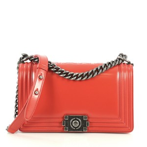 Chanel Reverso Flap Calfskin Shoulder Bag