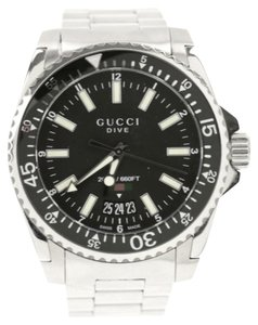 Gucci Silver Divers Watch