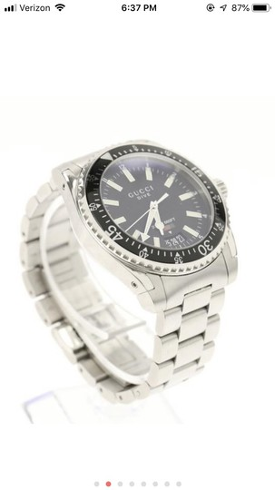 Gucci Silver Divers Watch Image 1