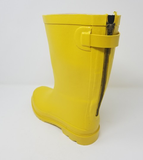 Forever Young Midcalf Rubber Rainboots Wellies Galoshes Yellow Boots Image 2