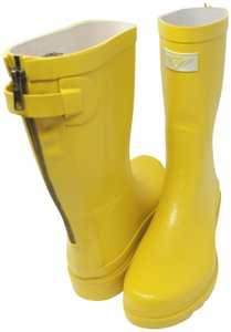 Forever Young Midcalf Rubber Rainboots Wellies Galoshes Yellow Boots