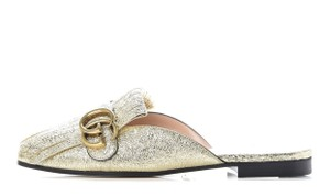 Gucci Marmont Loafer Gold Flats