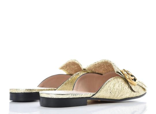 Gucci Marmont Loafer Gold Flats Image 1