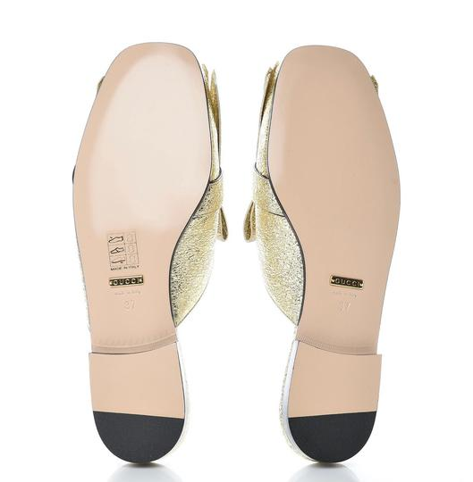Gucci Marmont Loafer Gold Flats Image 2