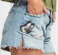 Hudson Casual Chic Embroidered Cut Off Shorts Light-Wash Image 1