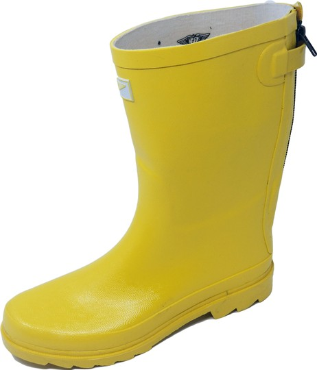 Forever Young Midcalf Rubber Rainboots Wellies Galoshes Yellow Boots Image 1