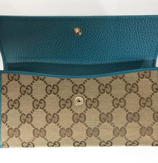 Gucci NEW GUCCI 231841 GG Guccissima Canvas Wallet Image 11